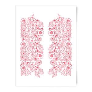 Elegant Floral Pattern Art Print