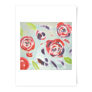 Acrylic Painted Flowers Art Print