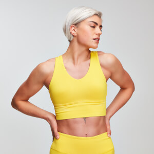 MP Power Dames Longline Sportbh - Buttercup