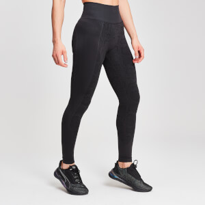 Leggings Seamless Animal Snake MP da donna - Nero