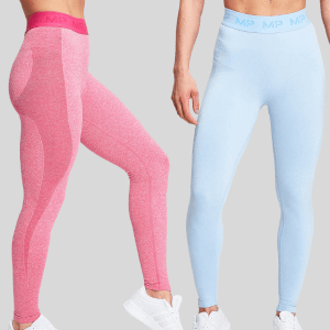 MP Birthday Women's 2 Pack Leggings - Super Pink/Sky Blue