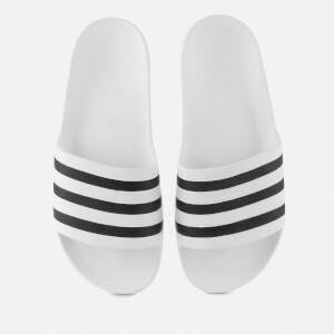 adidas Adilette Aqua Slide Sandals - FTWR White