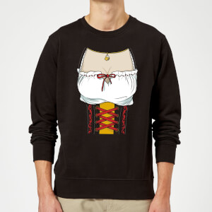 Oktoberfest Ladies Chest Sweatshirt - Black