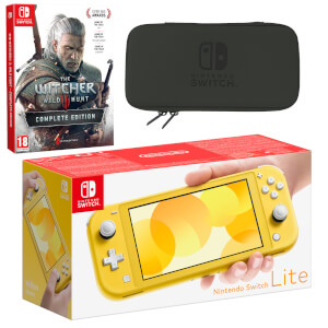 Nintendo Switch Lite (Yellow) The Witcher 3: Wild Hunt Pack