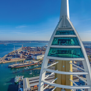 One Night Inn Break and Visit to Emirates Spinnaker Tower with Afternoon Tea for Two