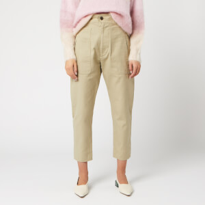 Isabel Marant Étoile Women's Raluni Trouser - Khaki