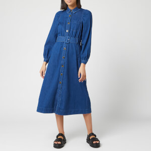 Whistles Women's Denim Midi Shirt Dress - Blue