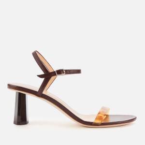 by FAR Women's Magnolia Leather Barely There Heeled Sandals - Bordeaux