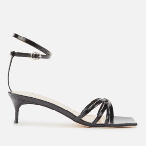 by FAR Women's Kaia Patent Leather Kitten Heels - Black