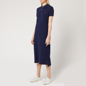 Polo Ralph Lauren Women's Polo Shirt Midi Dress - Cruise Navy