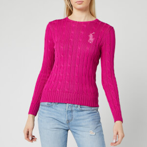 Polo Ralph Lauren Women's Sequin Classic Cable Knitted Jumper - Accent Pink