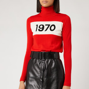 Bella Freud Women's 1970 Roll Neck Jumper - Red