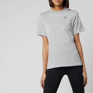 Reebok Women's Easy Short Sleeve T-Shirt - Medium Grey Heather