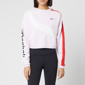 Reebok Women's Myt Colourblocked Cropped Sweatshirt - Pixel Pink