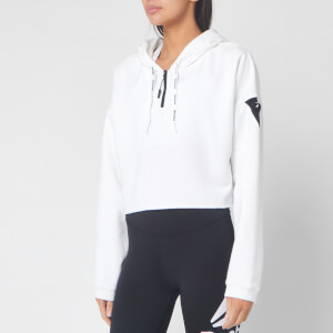 Reebok Women's Work Out Ready Myt 1/4 Zip Hoody - White