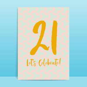 21 Let's Celebrate Greetings Card