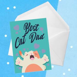 Best Cat Dad Greetings Card