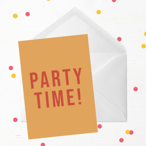 Party Time Greetings Card