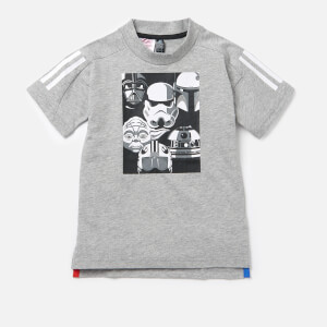 adidas Boys' Star Wars Short Sleeve T-Shirt - Medium Grey Heather