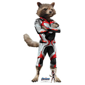 Marvel Rocket Racoon (Quantum Suit) Avengers Endgame Mini Carboard Cut-Out