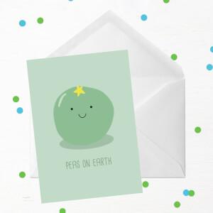 Peas On Earth Greetings Card