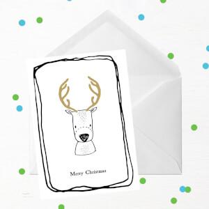 Merry Christmas Deer Greetings Card
