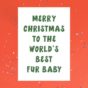 Merry Christmas To The World's Best Fur Baby Greetings Card