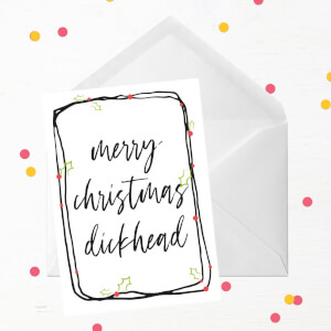 Merry Christmas Dickhead Boarder Greetings Card