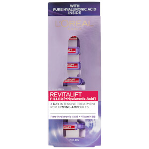 L'Oréal Paris Revitalift Filler with Hyaluronic Acid Replumping Ampoules 7 x 1.3ml