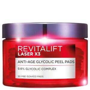 L'Oréal Paris Revitalift Laser Glycolic Peel Pads (30 Pads)