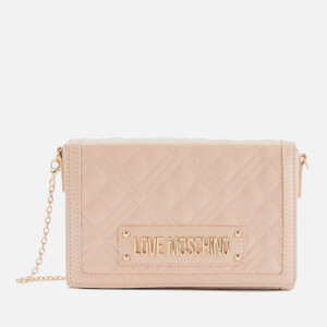 Love Moschino Women's Quilted Crossbody Bag - Pink