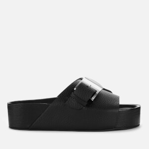 Simon Miller Women's Chunk Leather Slide Sandals - Black