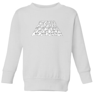 Star Wars The Rise Of Skywalker Star Wars IW Trooper Filled Logo Kids' Sweatshirt - White