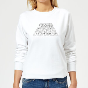 Star Wars The Rise Of Skywalker Trooper Filled Logo Women's Sweatshirt - White