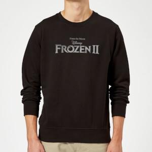 Frozen 2 Title Silver Sweatshirt - Black