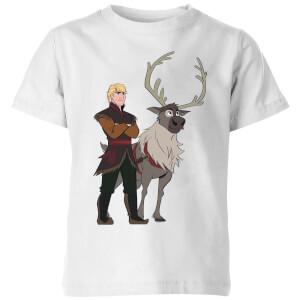 Frozen 2 Sven And Kristoff Kids' T-Shirt - White