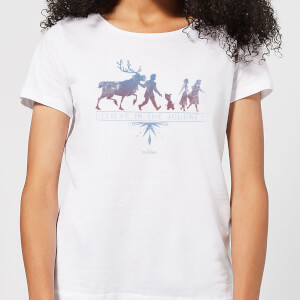 Frozen 2 Believe In The Journey Women's T-Shirt - White