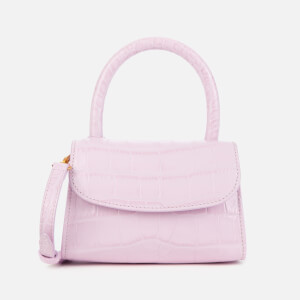 by FAR Women's Mini Croco Top Handle Bag - Pink