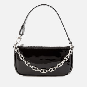 by FAR Women's Mini Rachel Semi Patent Handbag - Black