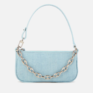 by FAR Women's Mini Rachel Lizard Shoulder Bag - Sky Blue
