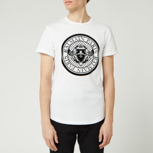 Balmain Men's Coin T-Shirt - Blanc