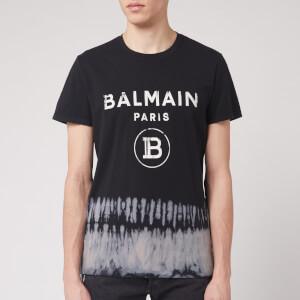 Balmain Men's Tie Dye Printed T-Shirt - Noir