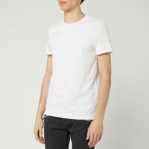 Balmain Men's Embossed Logo T-Shirt - Blanc