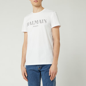 Balmain Men's Paris T-Shirt - Blanc