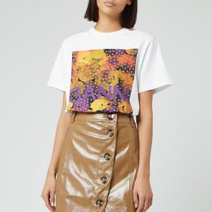 Ganni Women's Graphic Print Cotton Jersey T-Shirt