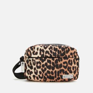 Ganni Women's Tech Fabric Camera Bag - Leopard