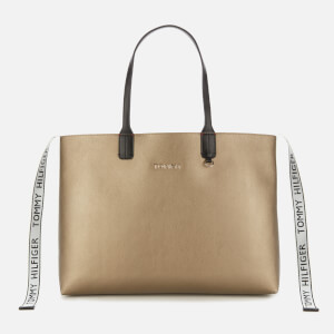 Tommy Hilfiger Women's Iconic Tommy Tote - Gold/Black Mix