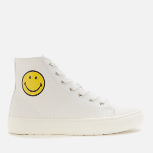 Joshua Sanders Women's Smiley Canvas Hi-Top Trainers - White