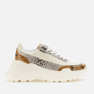 Joshua Sanders Women's Zenith Classic Donna Embossed Leather Chunky Running Style Trainers - Natural