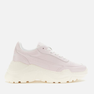 Joshua Sanders Women's Zenith Classic Donna Leather Chunky Running Style Trainers - Rose